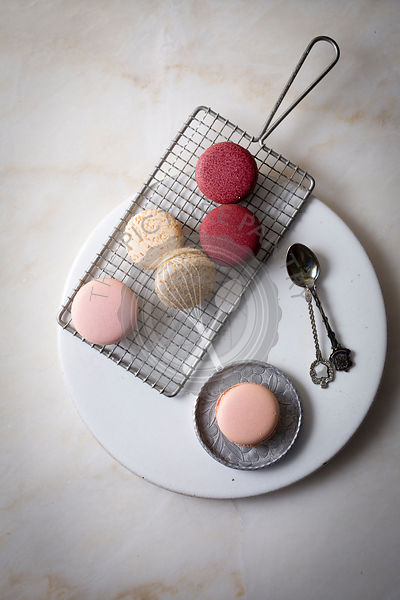 Macaroons on top view