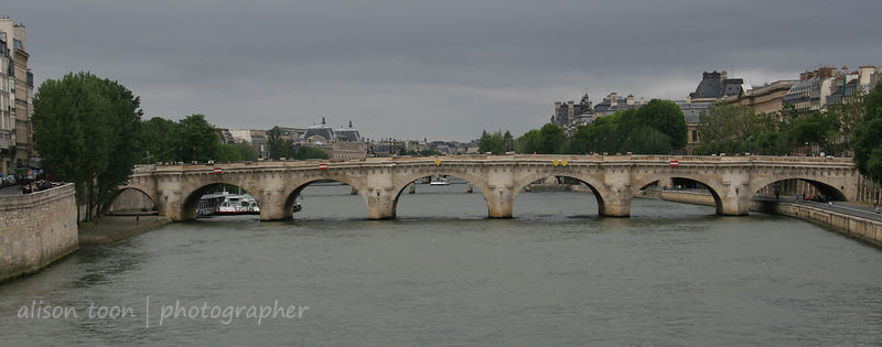 Bridge over the river Seine, Paris, France