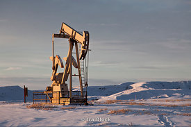 An oil pump at Big Horn Basin in Worland, Wyoming.