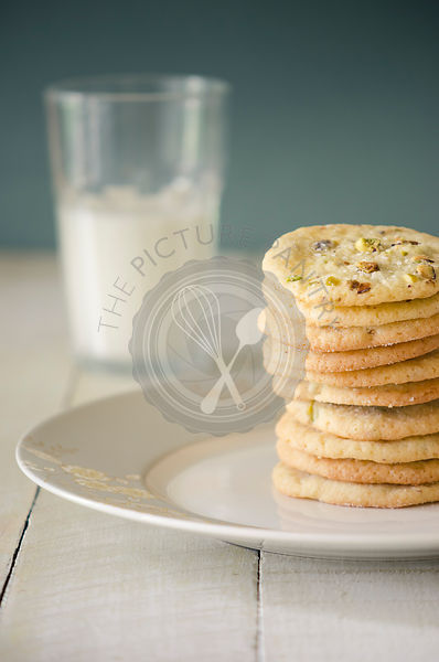 Stack of Cookies and a glass of milk.