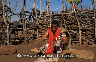 Sangoma throwing the bones, Shewula,  Swaziland