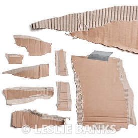 Torn Cardboard Pieces