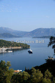Spilia harbour, Spartochori, Meganisi, Ionian Islands, Greece.