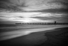 San Clemente Pier Black and White Photo