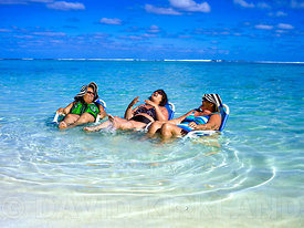 Ladies enjoying the water, Rarotonga