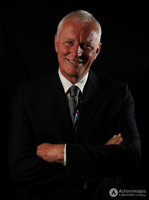 Snooker - Betfred.com World Snooker Championship - The Crucible Theatre, Sheffield - 26/4/11.World Snooker Chairman Barry Hearn poses after the announcement that the UK Championship will now be played at York Barbican, the Masters will now be played at Alexandra Palace and that Rileys will launch the first National Snooker Week.Mandatory Credit: Action Images / Steven Paston.Livepic