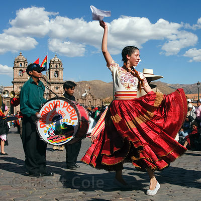 Dancers during Cusco Week, June 2008, Cusco, Peru