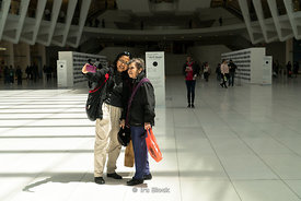 Tourists take pictures in The Oculus near World Trade Center in Lower Manhattan, New york City.