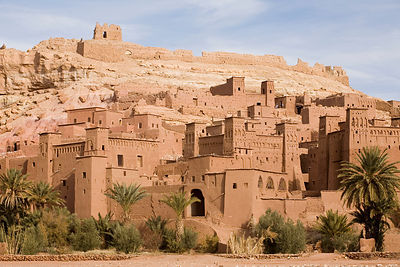 The Kasbah at Ait Benhaddou. The Kasbah is one of the best preserved in the region and has been the setting for numerous films. It is now a UNESCO World Heritage site