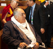 14th World Summit of Nobel Peace Laureates closing ceremony at the City Hall in Rome. Film Director Bernardo Bertolucci is awarded the Peace Summit Award for 2014