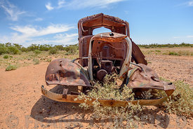 Abandoned wrecked truck