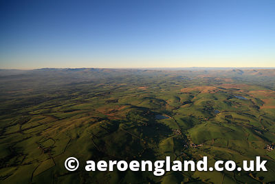 aerial photograph of Scout Hill and Tarhouse Tarn in the Lake District Cumbria England UK