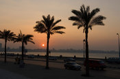 Waterfront at sunset, Mediterranean coast, Alexandria, Egypt