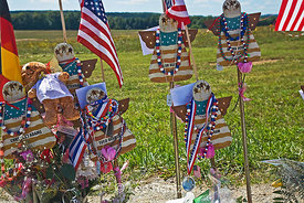 Folk Art Angels at Flight 93 Memorial