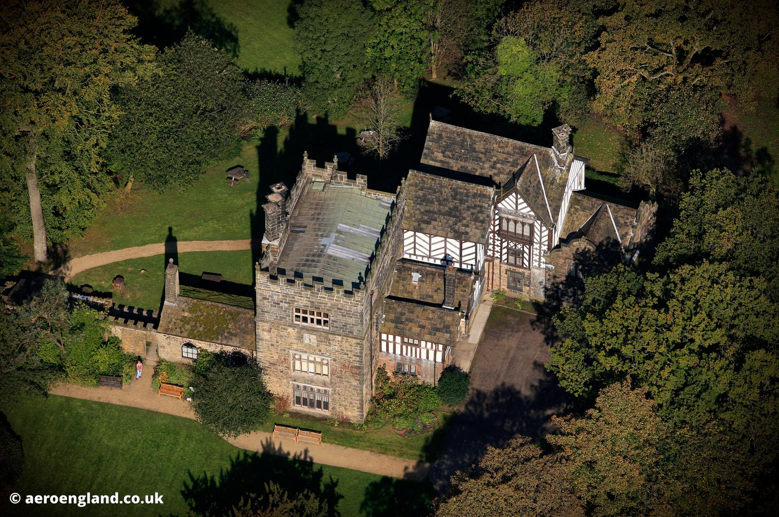 Smiths Hall , Bolton Lancashire  England UK aerial photograph