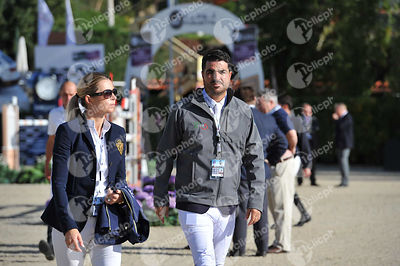 Edwina TOPS-ALEXANDER ,(AUS), Nicolas PIZARRO ,(MEX) during Coca-Cola Trofey competition at CSIO5* Barcelona at Real Club de Polo, Barcelona - Spain