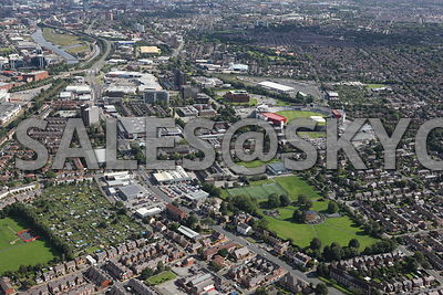 Trafford Park and Old Trafford and Salford Quays Aerial photographs