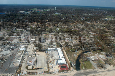 Damage in Gulfport, MS from Hurricane Katrina
