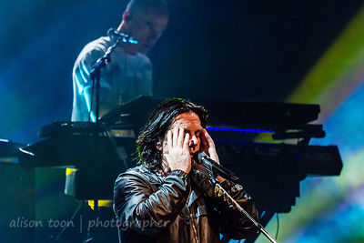 Steve Hogarth and Mark Kelly, Marillion, Friday evening, Montreal, 2015