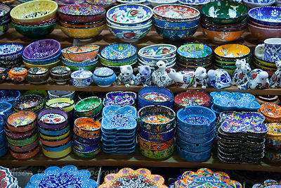 Ceramic souvenirs for sale in the spice market, Istanbul