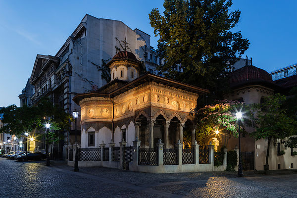 Stavropoleos Orthodox Church & Monastery at Dusk
