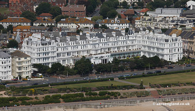 aerial photograph of the Grand Hotel.King Edwards Parade Eastbourne, East Sussex BN21 4EQ Great Britain  United Kingdom