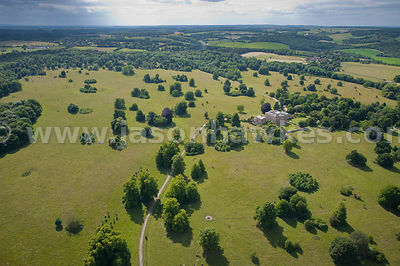 Aerial view of Basilon Park, Berkshire