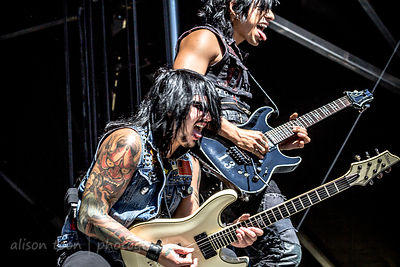 Kevin Thrasher and TJ Bell, Escape the Fate, Aftershock 2014