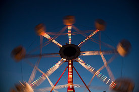 A ferris wheel at the Fillmore County Fair, Preston, Minnesota.