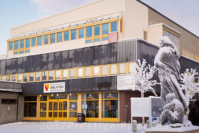 Library in Kirkenes Town Square
