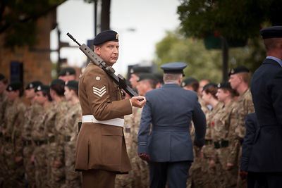 Staff Sergeant Mark Taylor of 142 Vehicle Squadron (RLC)