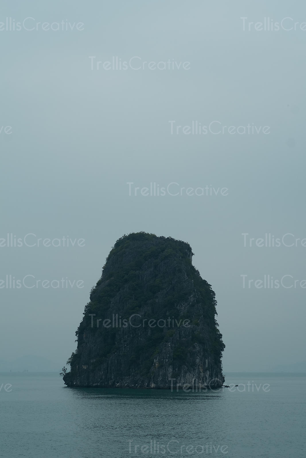 Limestone rock formation in Halong Bay, Vietnam