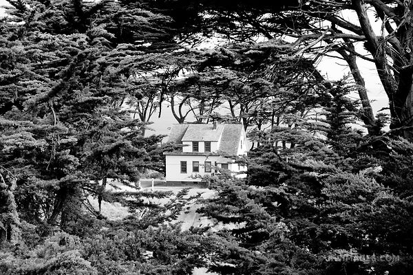 HISTORIC LIFEBOAT STATION BUILDING POINT REYES NATIONAL SEASHORE CALIFORNIA BLACK AND WHITE