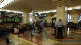 Medium Shot: 180° Pan Of Union Station's Arrival & Departure Lobby