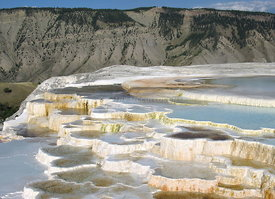 Yellowstone hot pools and terraces