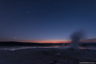 Jupiter and the geysers - Yellowstone - Wyoming