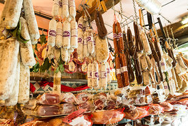 Salami and prosciutto shop