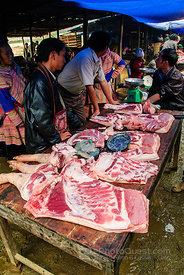 Meat Selling at Baca Market