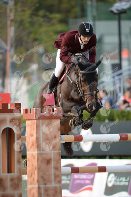 Khalid Mohammed A S AL EMADI ,(QAT), TAMIRA IV during Longines Cup of the City of Barcelona competition at CSIO5* Barcelona at Real Club de Polo, Barcelona - Spain