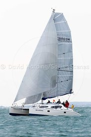 Belladonna, GBR69M, Dazcat 10m catamaran, Round the Island Race 2017, 201707011174