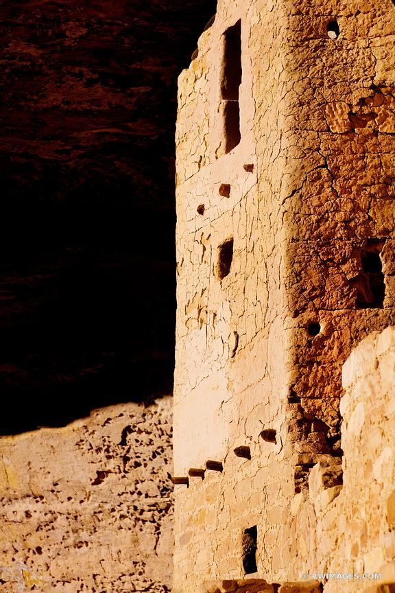 CLIFF DWELLINGS RUINS CLIFF PALACE MESA VERDE NATIONAL PARK COLORADO VERTICAL