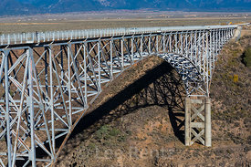 The Steel Arch of the Rio Grande Gorge Bridge