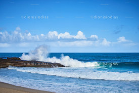 Beach of Trindade breaking wave, Paraty Brazil.