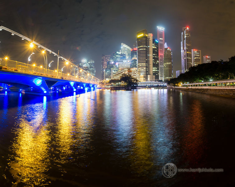 Singapore (Harbor Nighttime Panorama I)