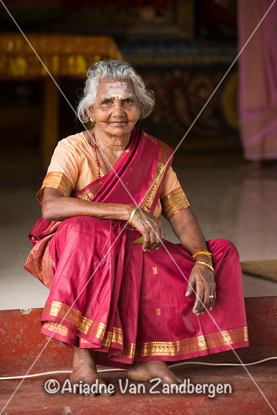 Old lady at a Hindu Wedding, Deniyaya, Sri Lanka