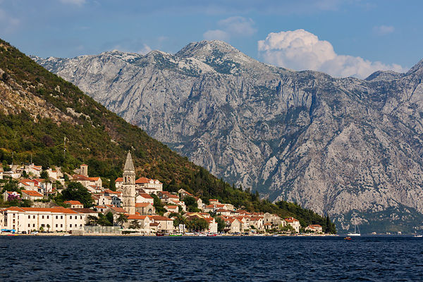 View of the Town of Perast from the Bay of Kotor
