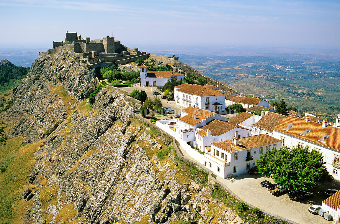 Marvao Portugal  city photos gallery : Aerial view of Marvão, a small historical village. Alentejo, Portugal