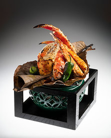 King crab on hoba leaf, Sake no Hana, St. James's St.