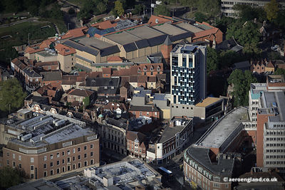 aerial photograph of Westlegate tower Norwich