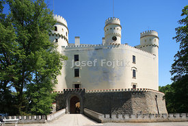Orlik Castle at the Orlik Artifical Lake on the Vltava River, Czech Republic
